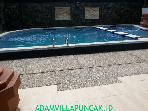 villa puncak 4 kamar kolam renang pribadi
