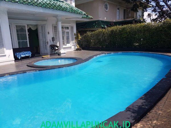 villa aang puncak kolam renang pribadi