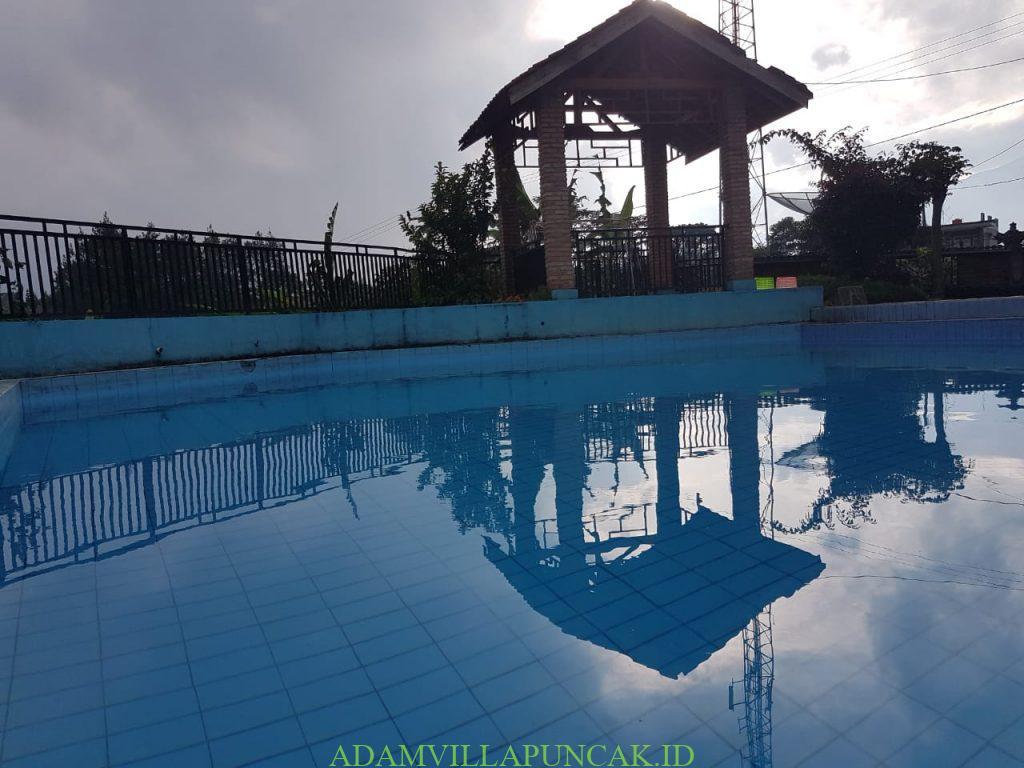 villa sarip puncak kolam renang pribadi