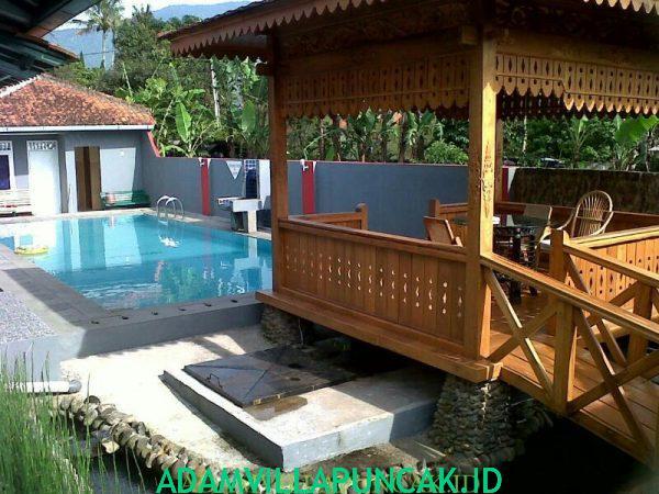 villa cipanas kolam renang pribadi