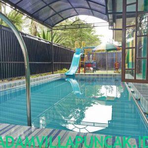 villa kota bunga kolam renang pribadi