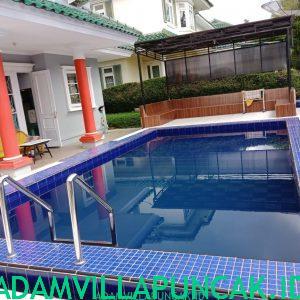 villa geulis puncak kolam renang pribadi