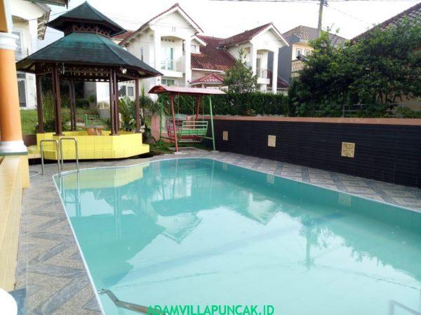 villa cipendawa puncak 6 kamar kolam renang pribadi