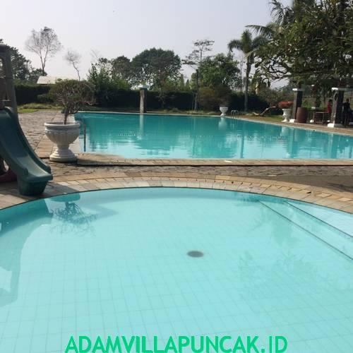 kolam renang villa puncak resort