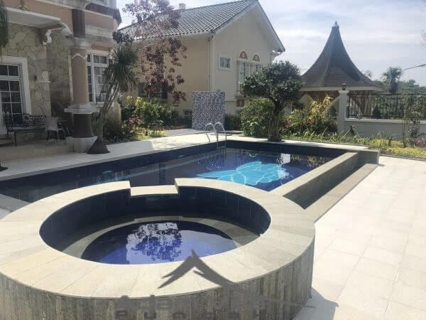 villa puncak private pool
